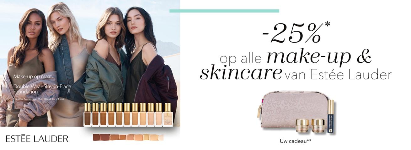 25% korting op Estée Lauder skincare & make-up