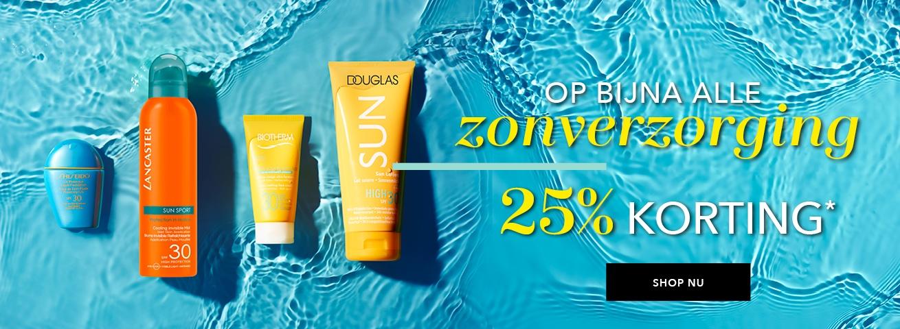 25% korting op alle zonverzorging