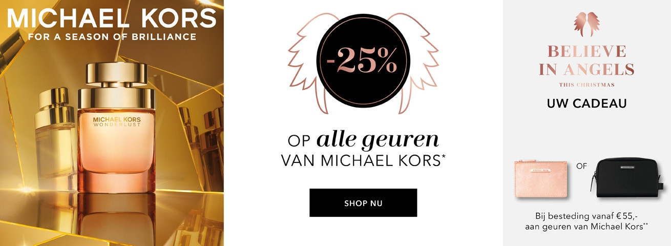 -25%* op alle geuren van Michael Kors